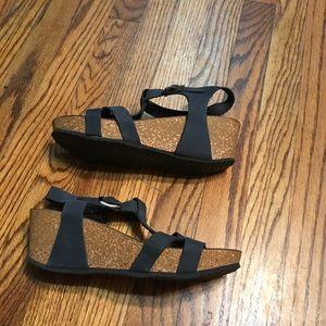 Marina Luna Shoes - Marina Luna wedges sandals leather size 9